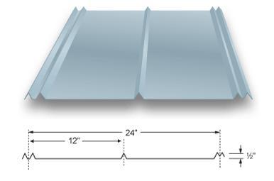 5v Crimp Metal Panel